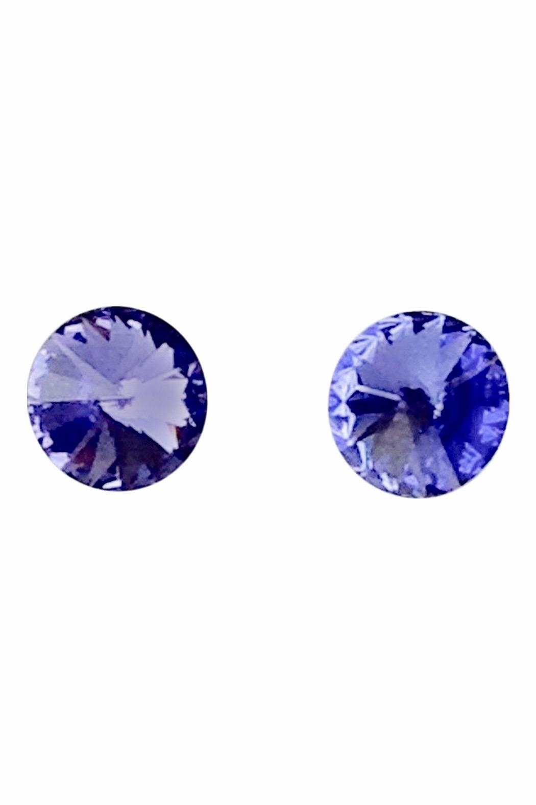 GHome2 Tanzanite Swarovski Earrings - Front Cropped Image