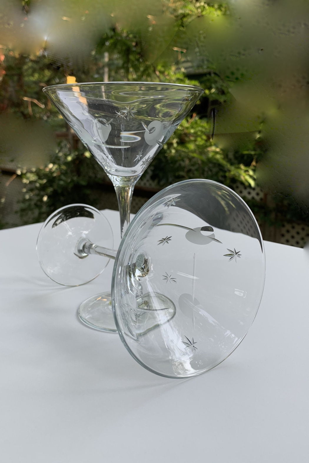 GHome2 Twinkle Martini Glasses - Back Cropped Image