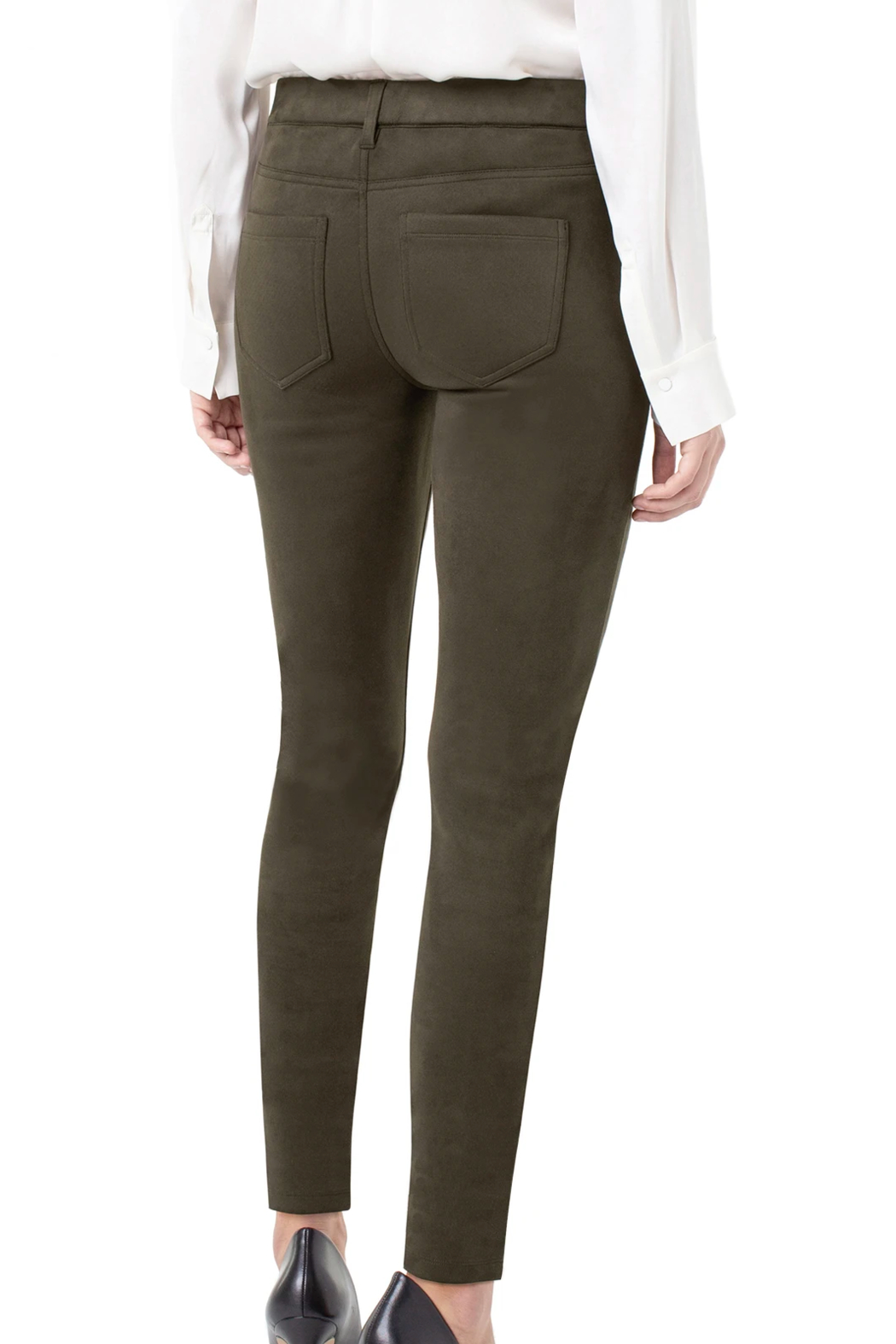 Liverpool Gia Faux-suede Skinnypant - Front Full Image