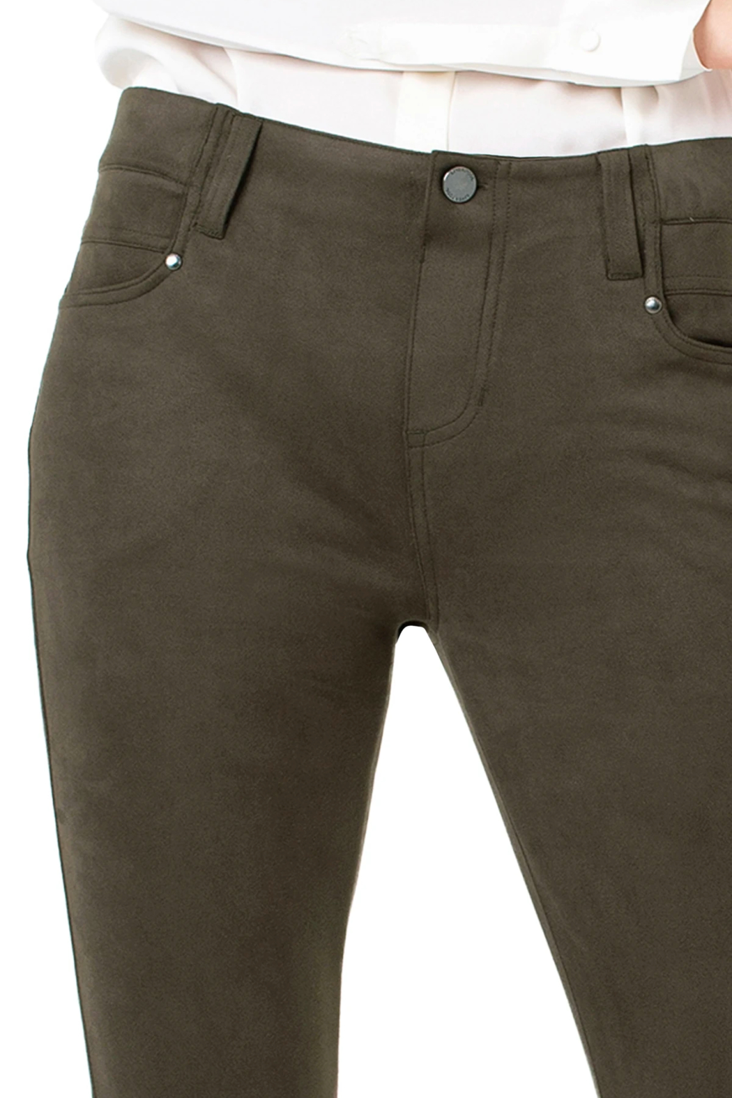 Liverpool Gia Faux-suede Skinnypant - Back Cropped Image