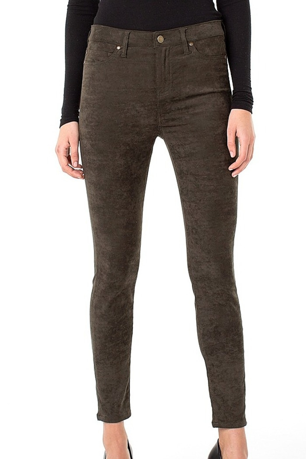 Liverpool Gia Faux-suede Skinnypant - Main Image