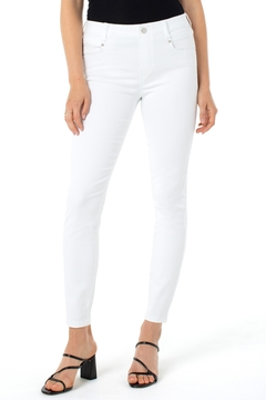 Liverpool  Gia Gilder Ankle Jean in White - Product List Image