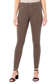 Liverpool  GIA GLIDER ANKLE SKINNY in Olive Bark - Product Mini Image