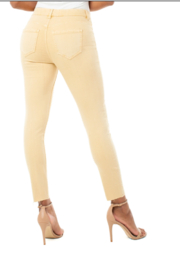 Liverpool Gia Glider Crop Cut Hem 27' ins.- DIJON COLOR - Front full body
