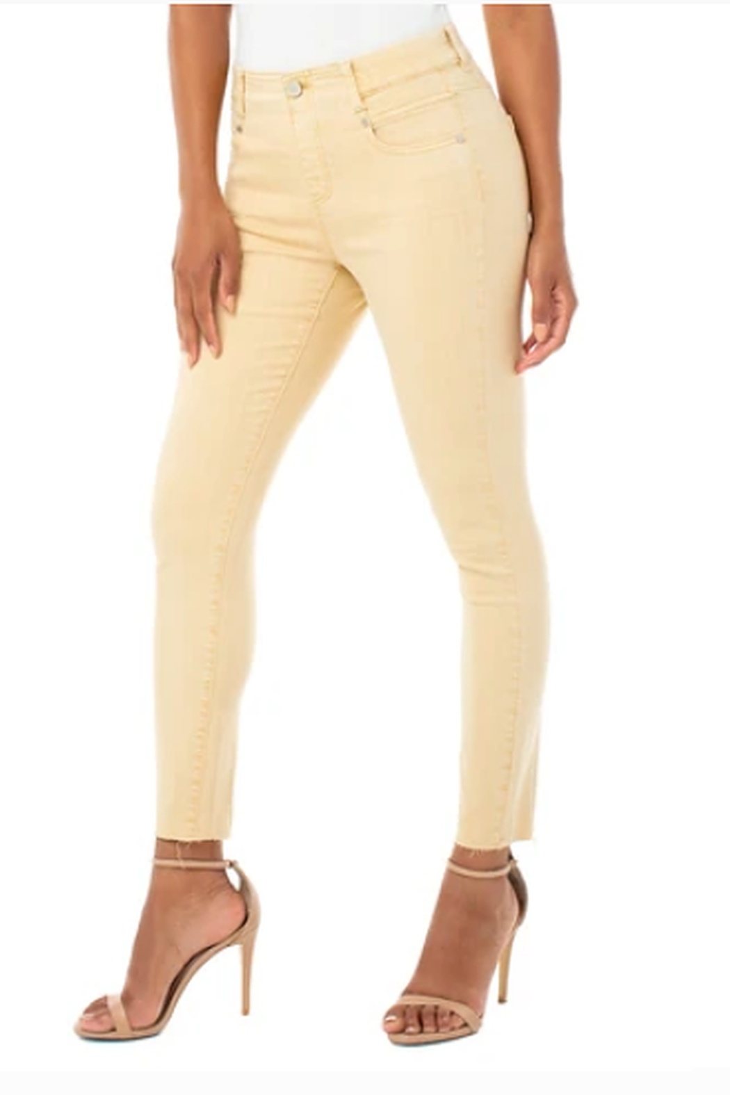 Liverpool Gia Glider Crop Cut Hem 27' ins.- DIJON COLOR - Front Cropped Image