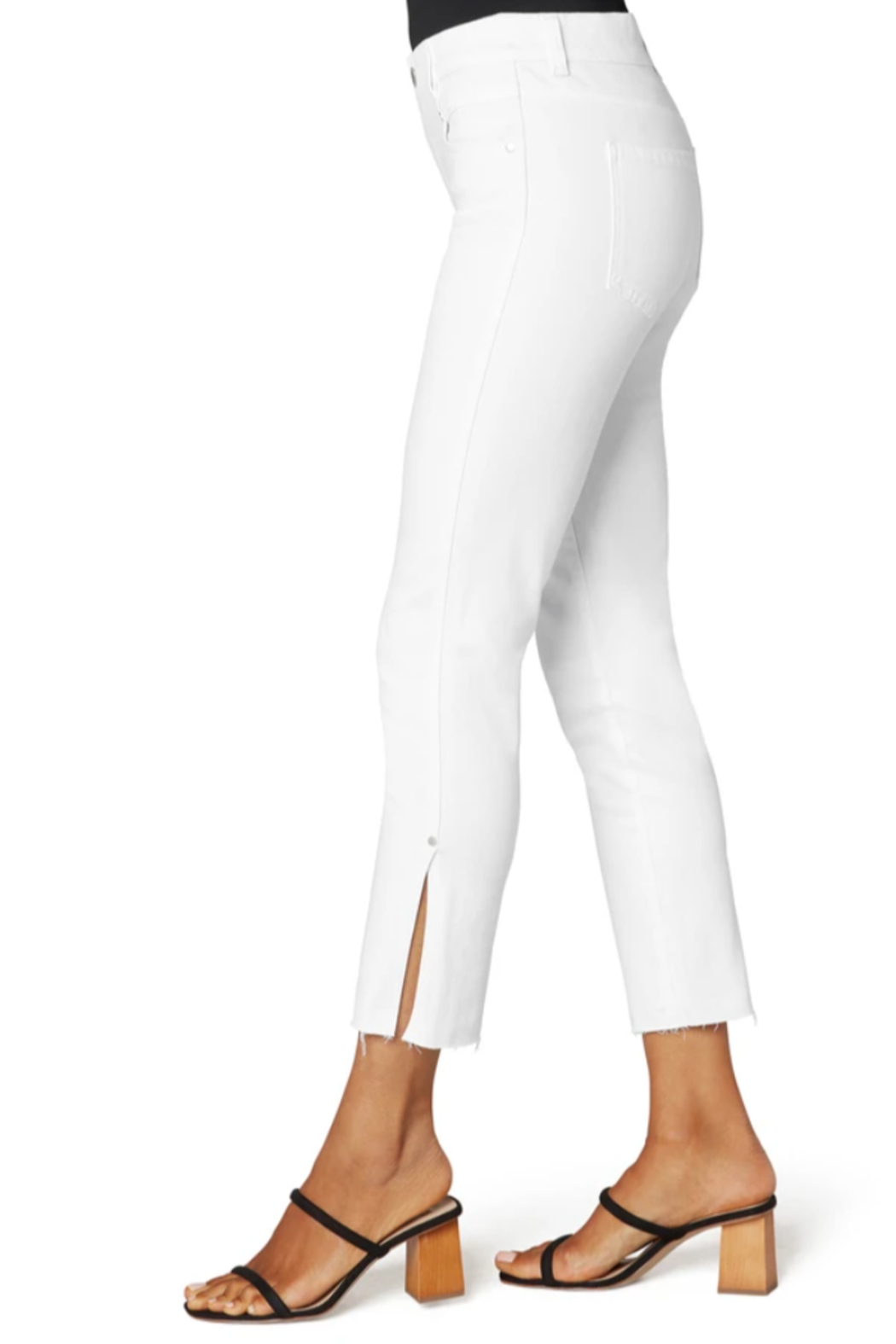 Liverpool  Gia Glider crop with Cut Hem & Slit - Front Cropped Image