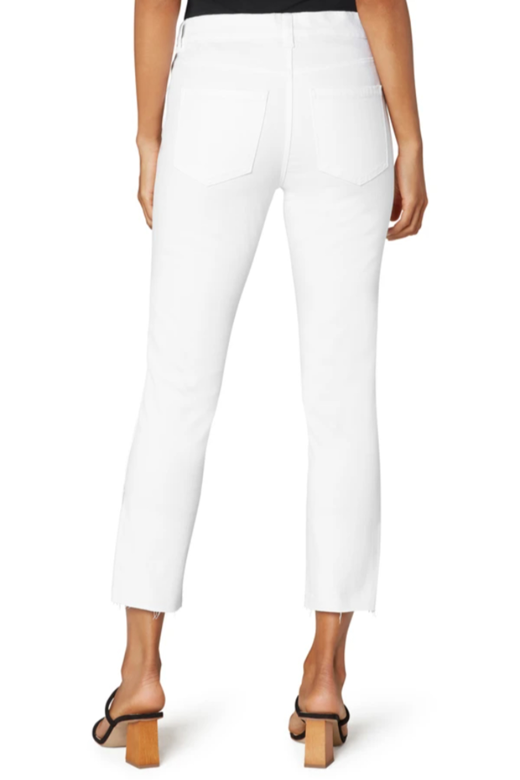 Liverpool  Gia Glider crop with Cut Hem & Slit - Side Cropped Image