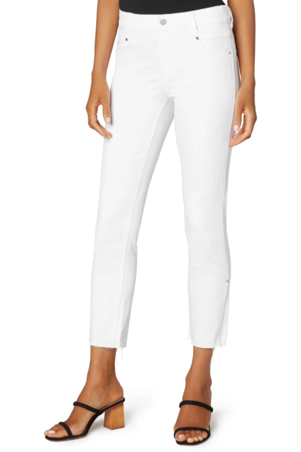 Liverpool  Gia Glider crop with Cut Hem & Slit - Front Full Image