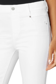 Liverpool  Gia Glider crop with Cut Hem & Slit - Back cropped