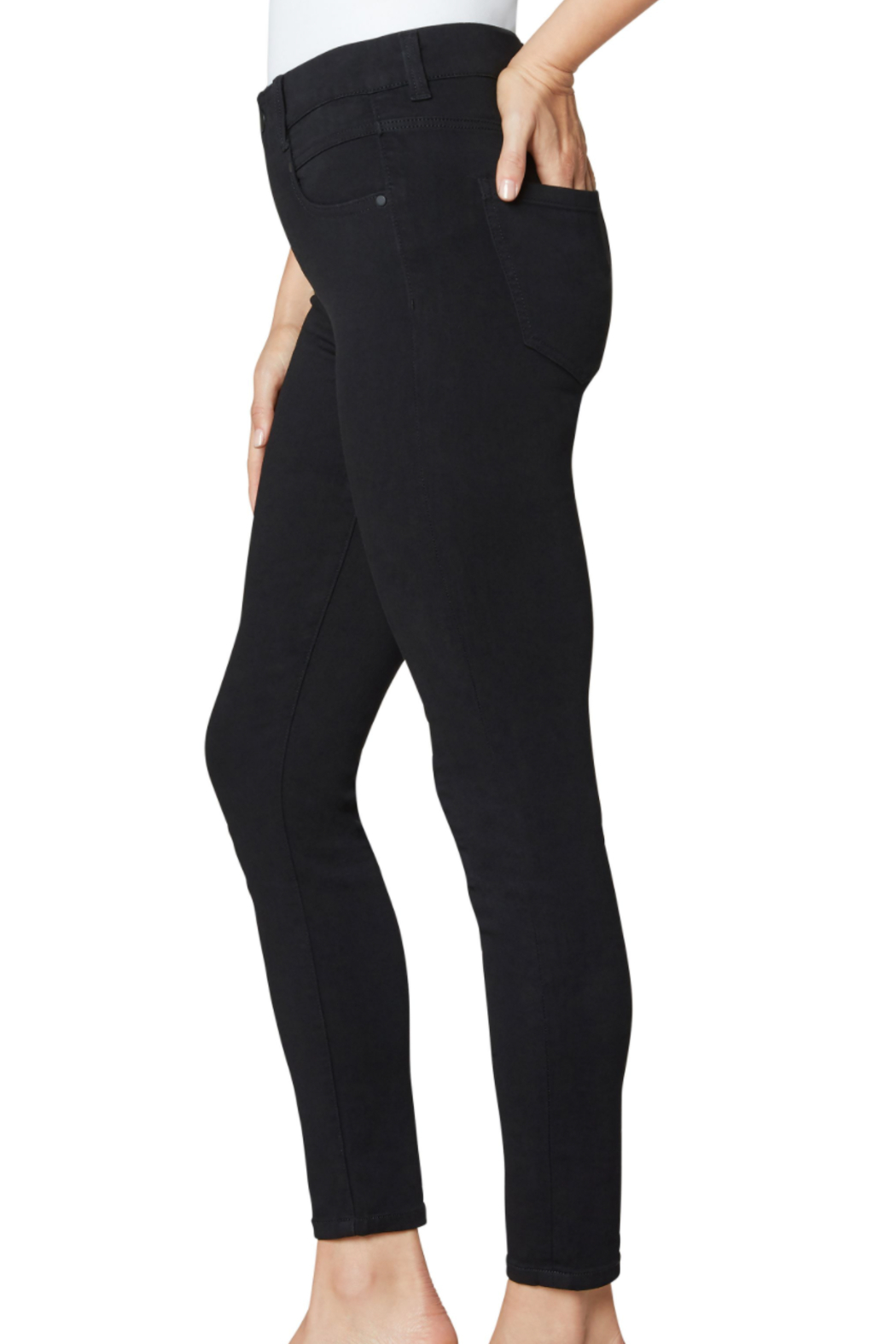 Liverpool  Gia Glider Pant - Side Cropped Image