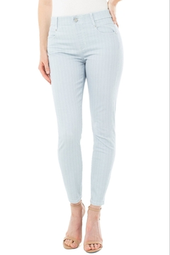 Shoptiques Product: Gia Glider Skinny Crop Pants, Dawn Blue