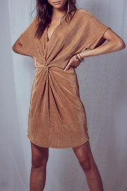 SAGE THE LABEL Gia Gold Dress - Product Mini Image