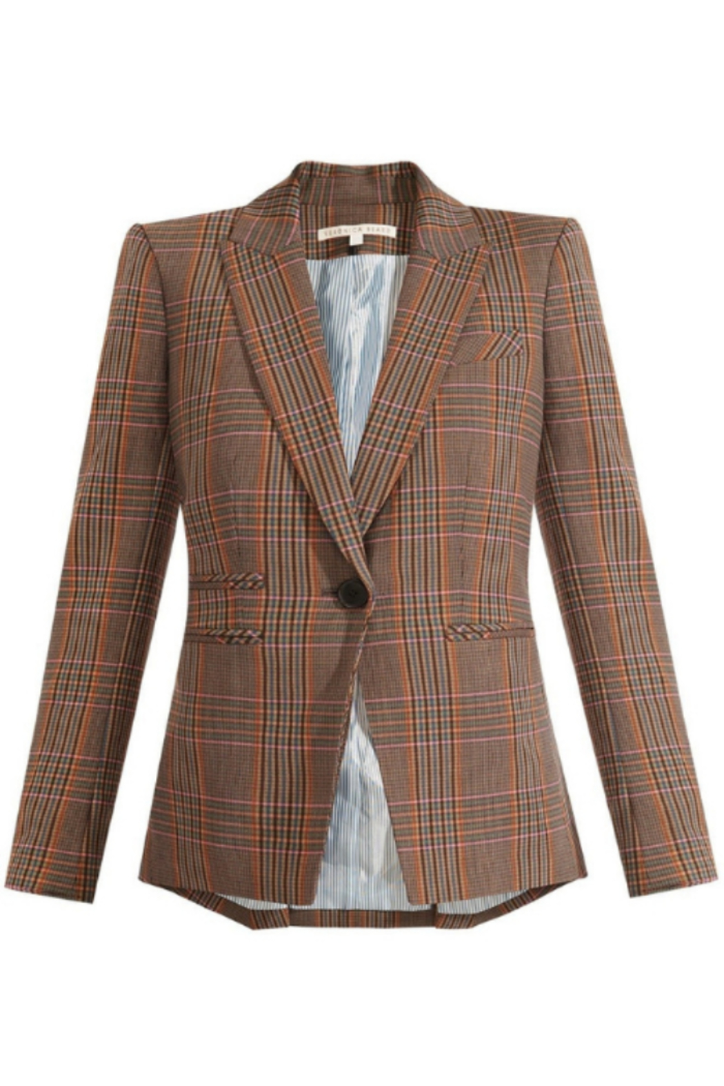 Veronica Beard Gia Plaid Dickey Jacket - Front Cropped Image