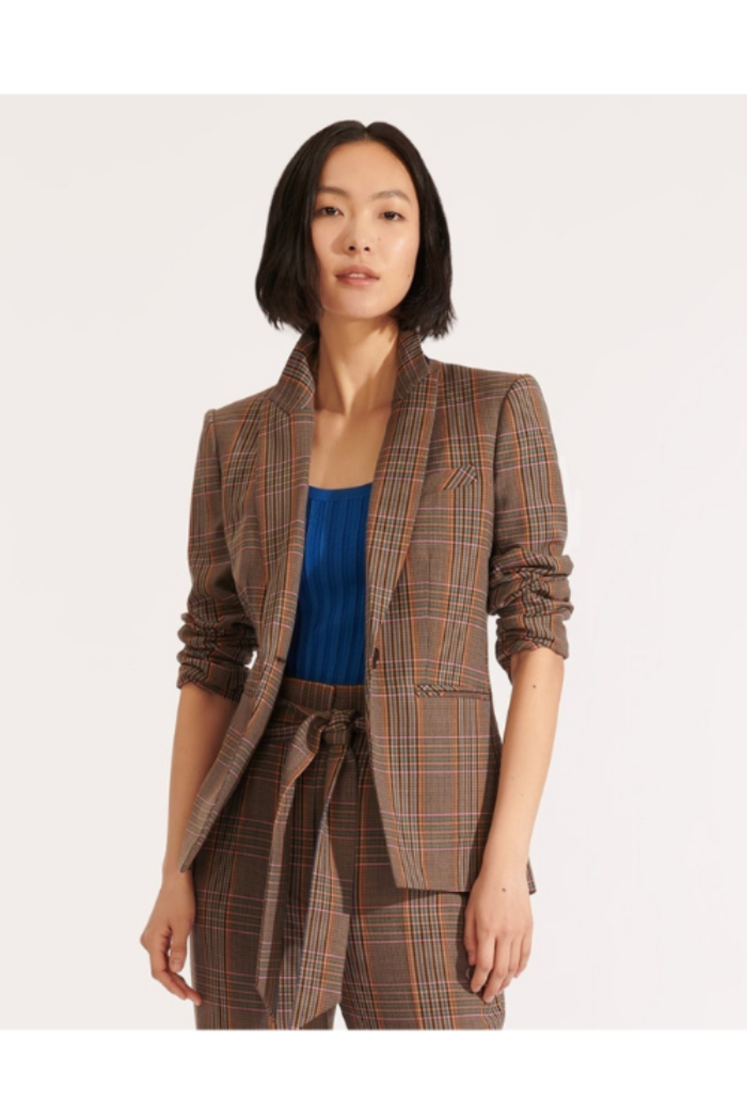 Veronica Beard Gia Plaid Dickey Jacket - Main Image
