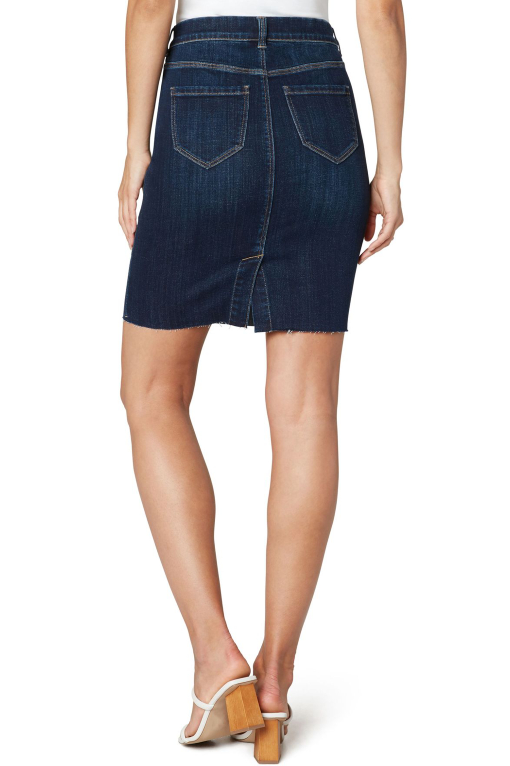 Liverpool  GIA PULL-ON CUT HEM PENCIL SKIRT - Front Full Image