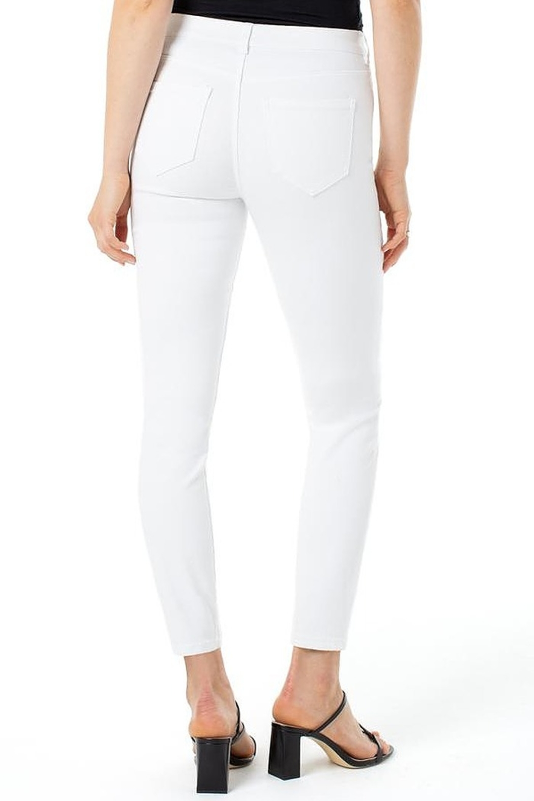 Liverpool  Gia White Glider Skinny - Side Cropped Image