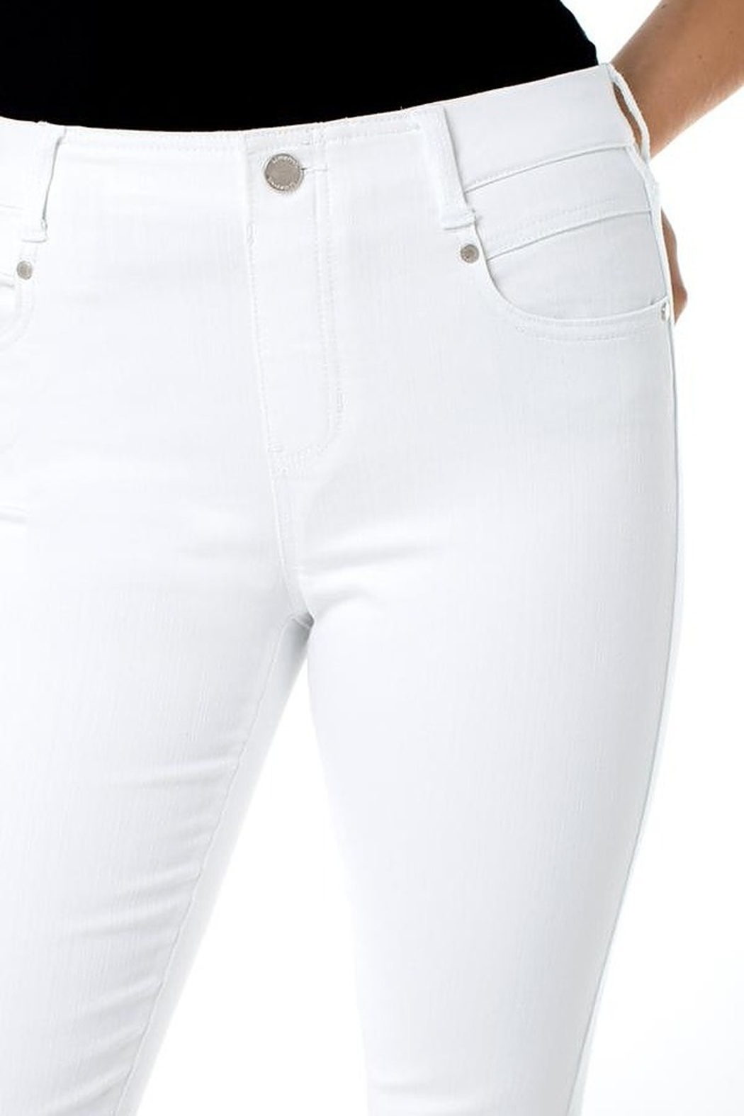 Liverpool  Gia White Glider Skinny - Front Full Image