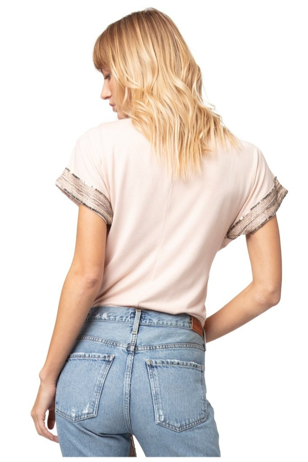 AS by DF Giada Beaded Top - Side Cropped Image