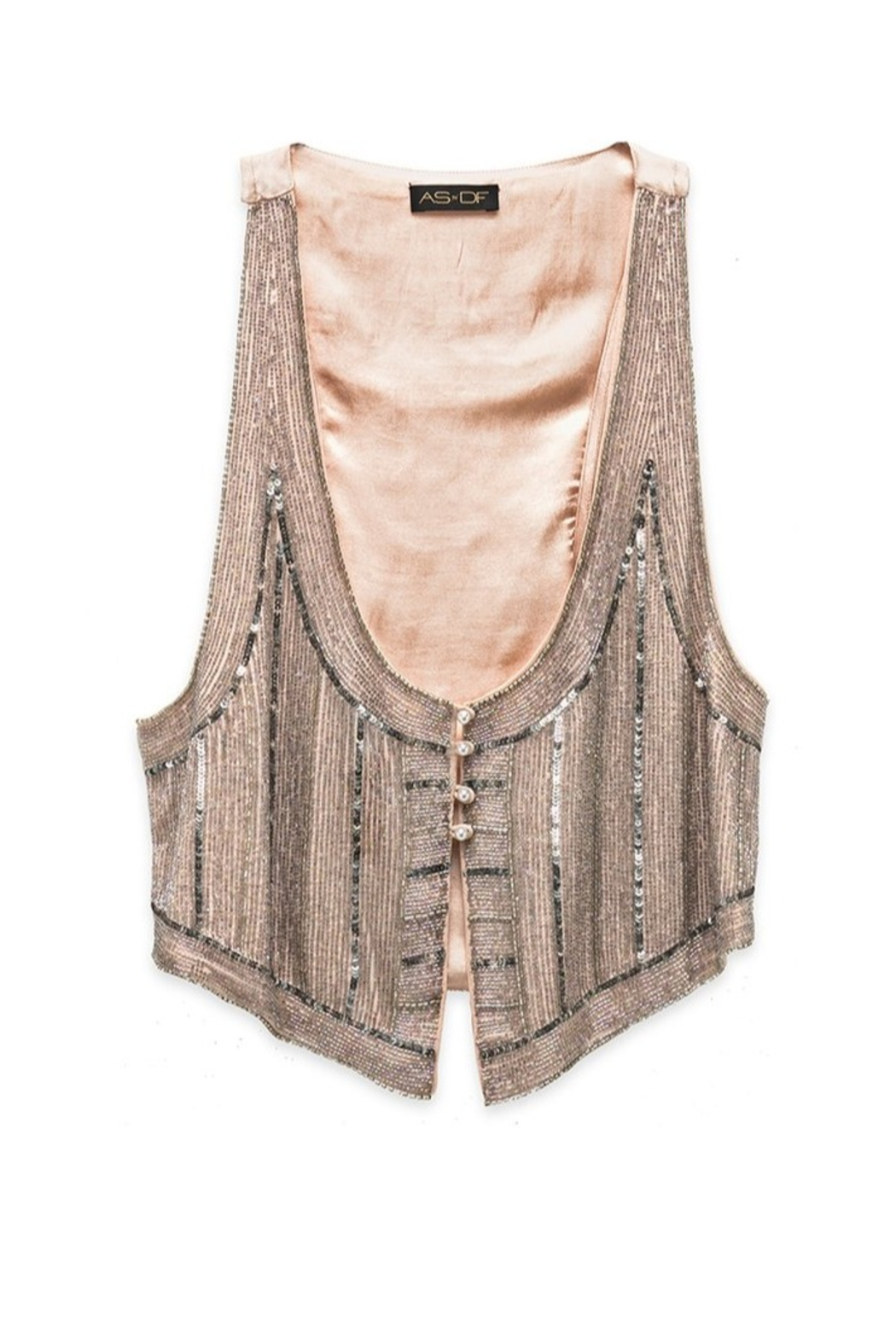 AS by DF Giada Beaded Vest - Main Image