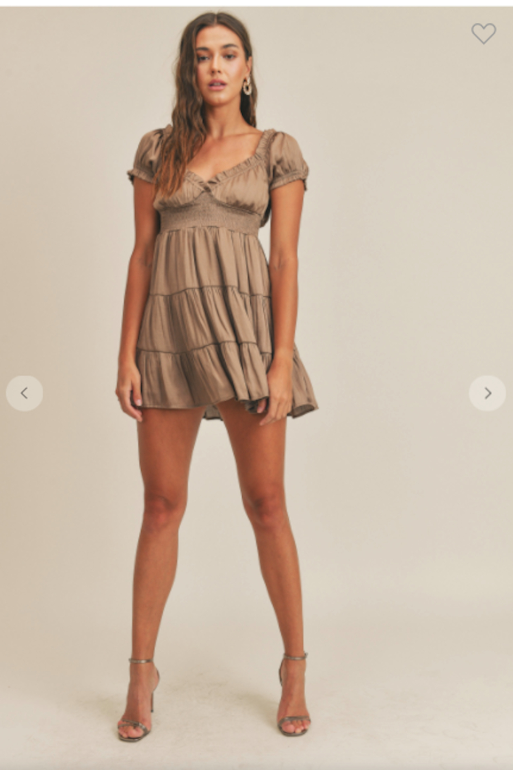 Mable Giana Satin Babydoll Dress - Front Cropped Image