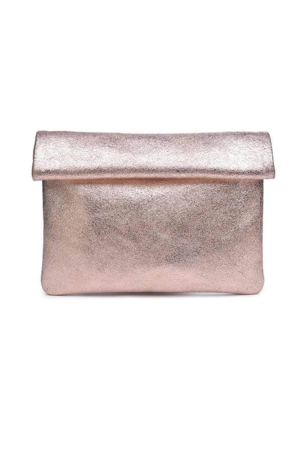 Moda Luxe Gianna Metallic-Leather Clutch - Main Image