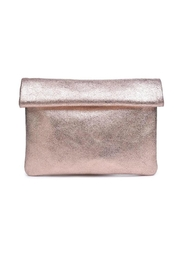 Moda Luxe Gianna Metallic-Leather Clutch - Product Mini Image