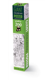 Crocodile Creek Giant Coloring Poster: Zoo - Product Mini Image