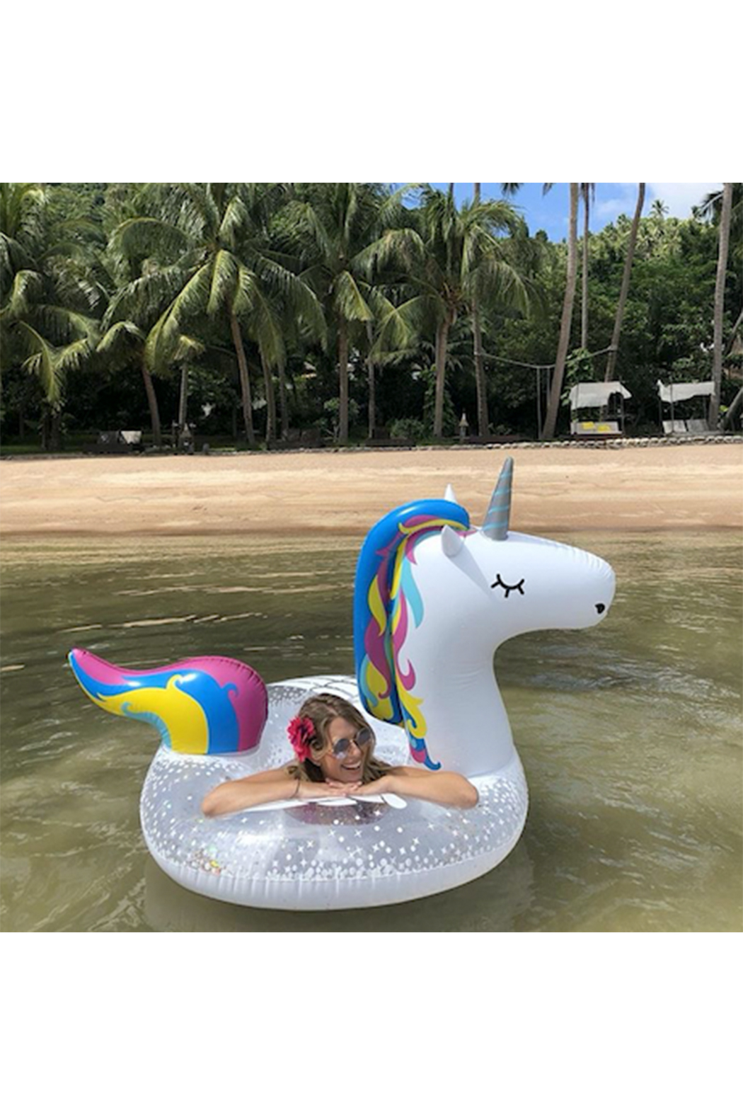 BIGMOUTH Giant Magical Unicorn Pool Float - Side Cropped Image