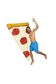 Big Mouth Giant Pizza Slice Pool Float - Product Mini Image