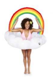 Big Mouth Giant Rainbow Cloud Pool Float - Product Mini Image