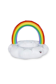 Big Mouth Giant Rainbow Cloud Pool Float - Side cropped