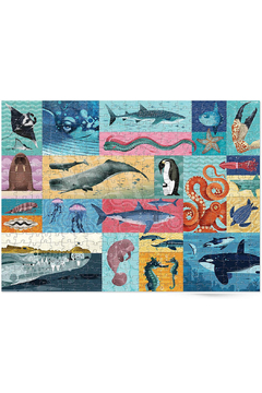 Crocodile Creek Giants Of The Sea 500 Piece Family Puzzle - Product List Image