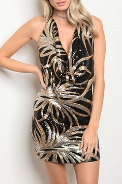 GIBIU Black/gold/silver Sequins Dress - Product List Image