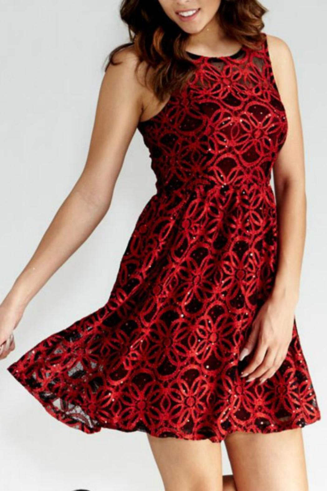 GIBIU Red-N-Refined Dress - Front Full Image