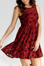 GIBIU Red-N-Refined Dress - Front full body