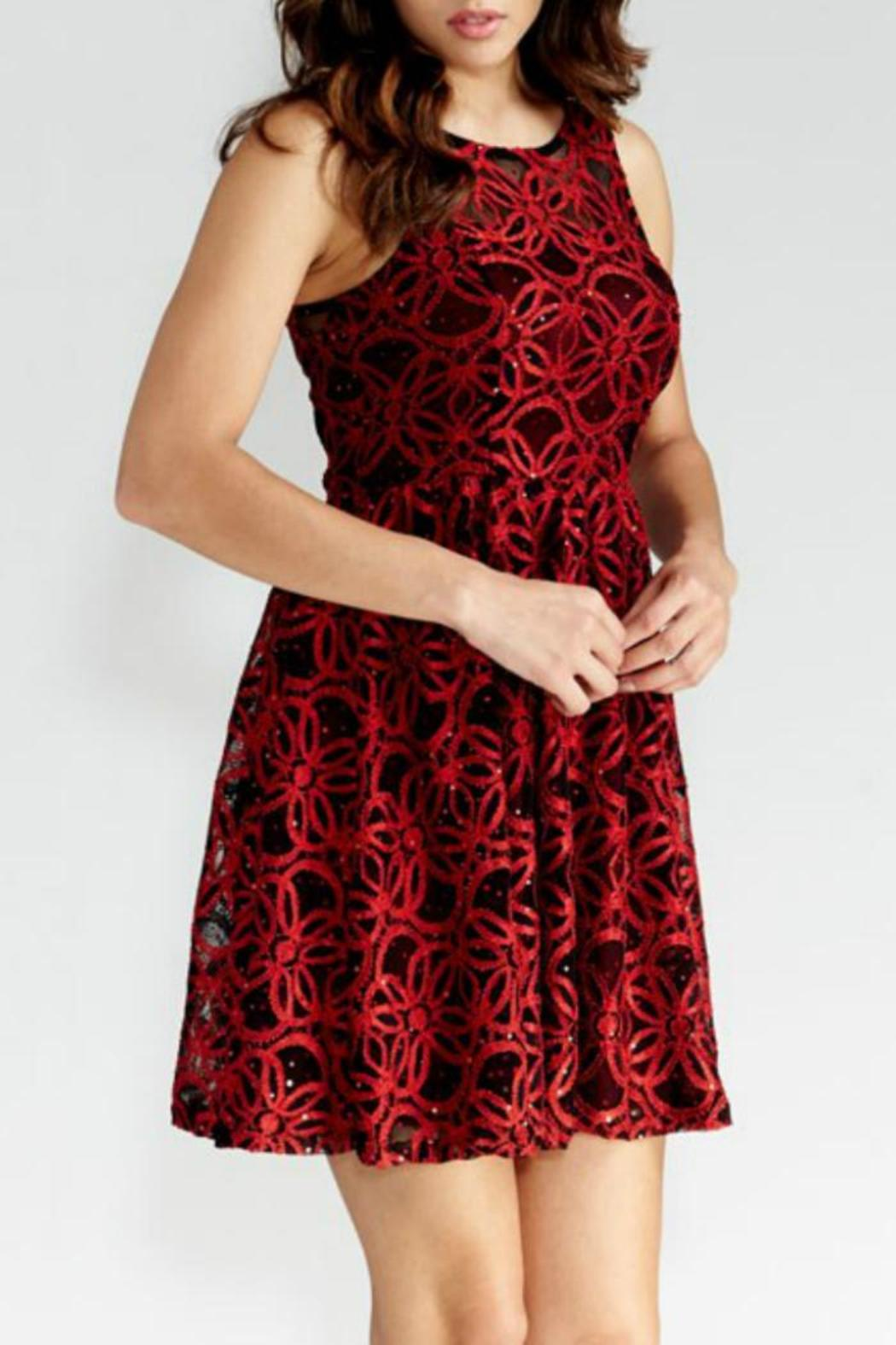 GIBIU Red-N-Refined Dress - Side Cropped Image