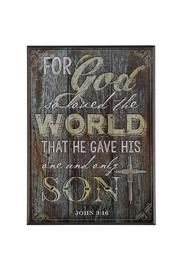 Gift Craft John 3:16 Plaque - Product Mini Image