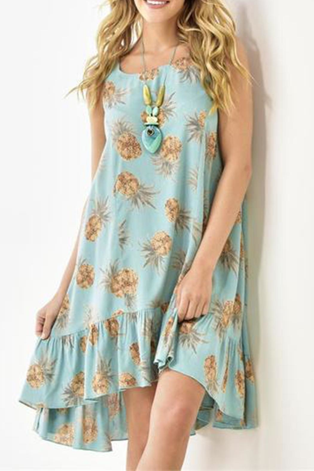 Gift Craft Pineapple Swing Dress - Front Cropped Image