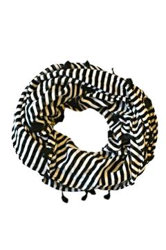 Shoptiques Product: Striped Infinity Scarf