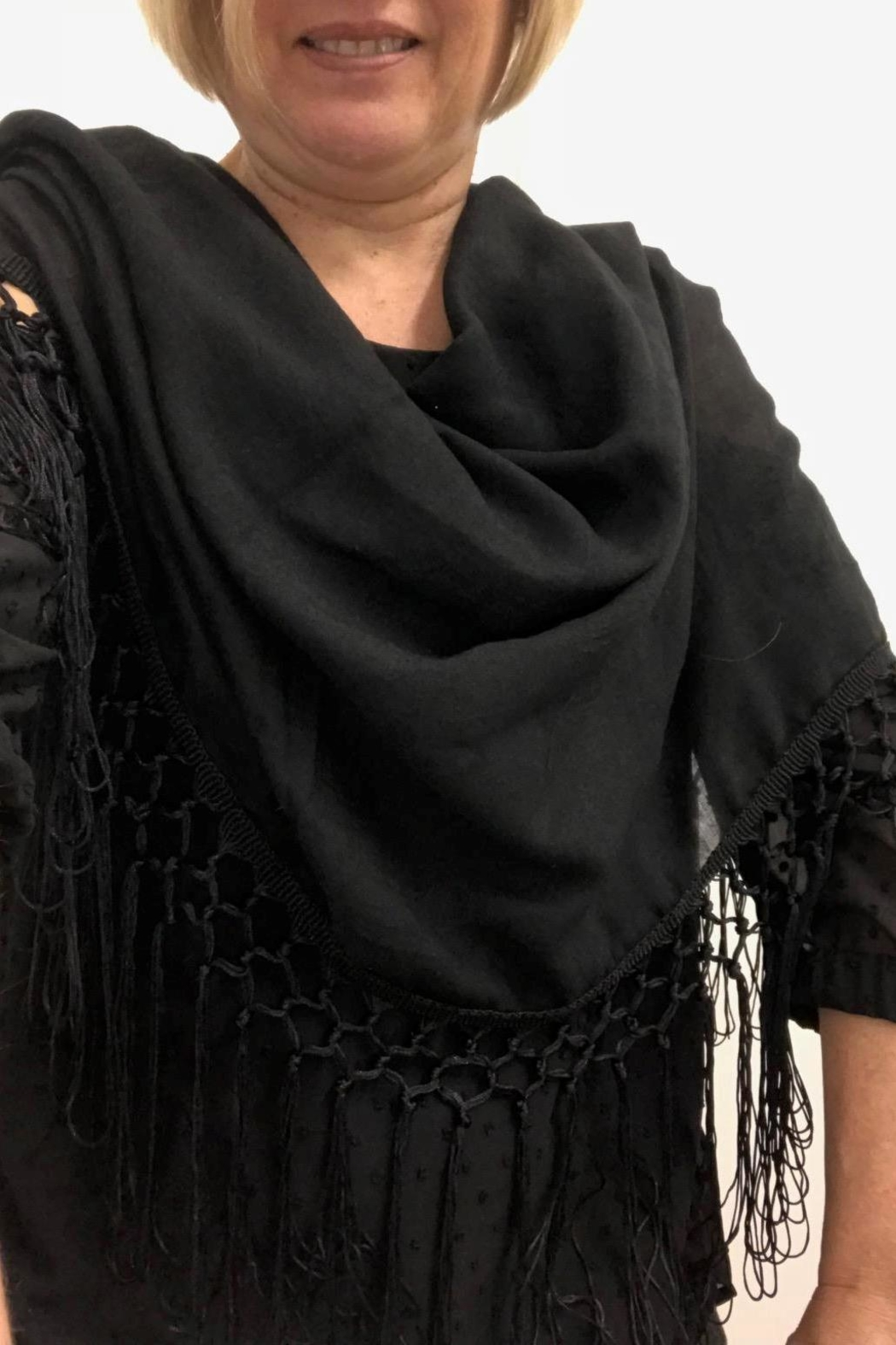 Gift Craft Tassel Infinity Scarf - Front Full Image