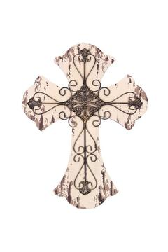 Shoptiques Product: Wood & Metal Cross