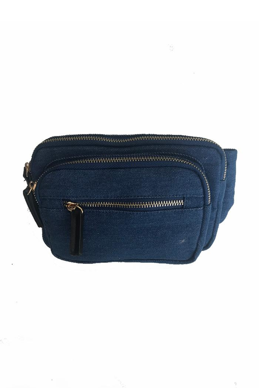 Gift Girl Denim Fanny Pack - Front Cropped Image