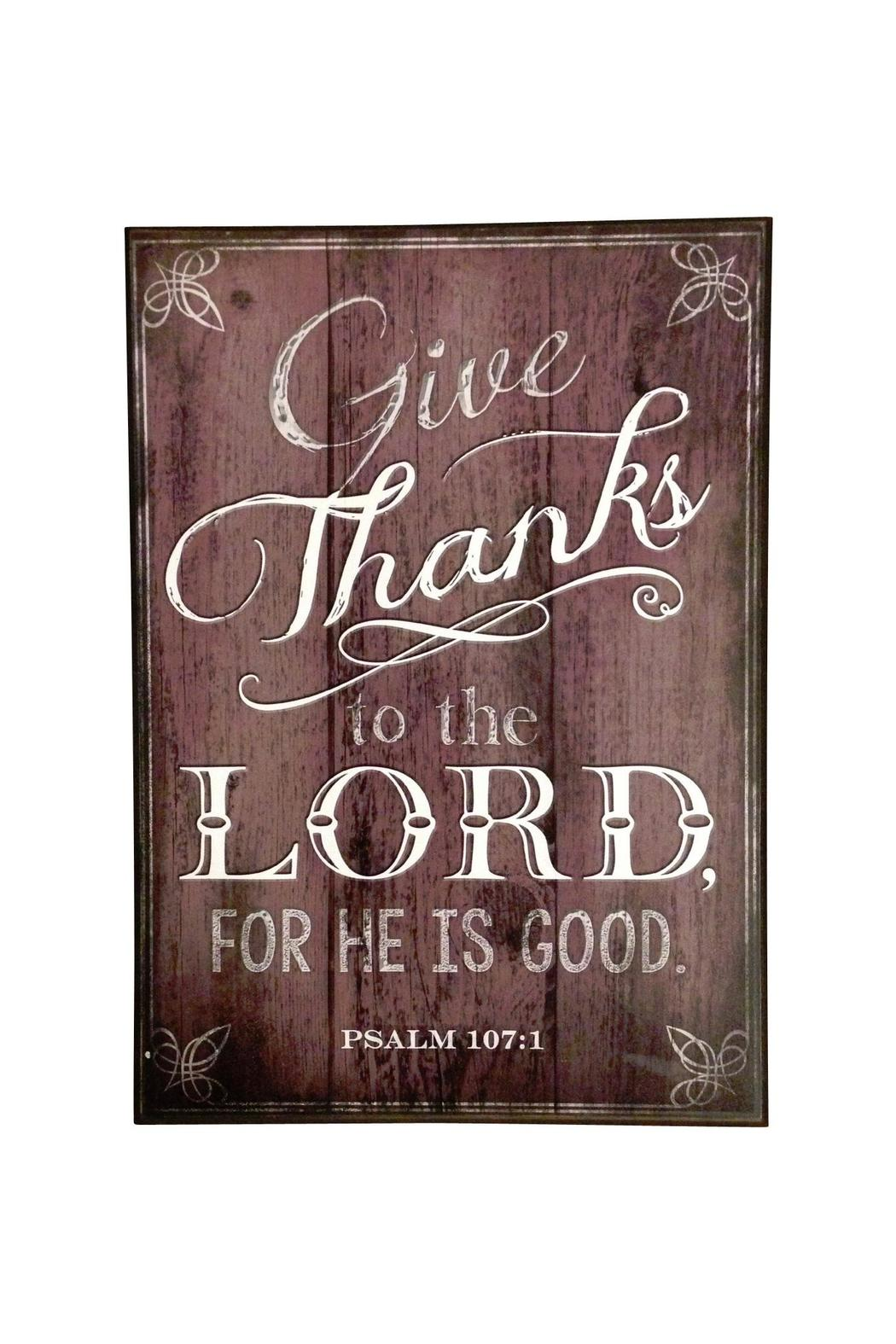 Giftcraft Inc.  Give Thanks Plaque - Main Image