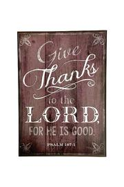 Giftcraft Inc.  Give Thanks Plaque - Product Mini Image