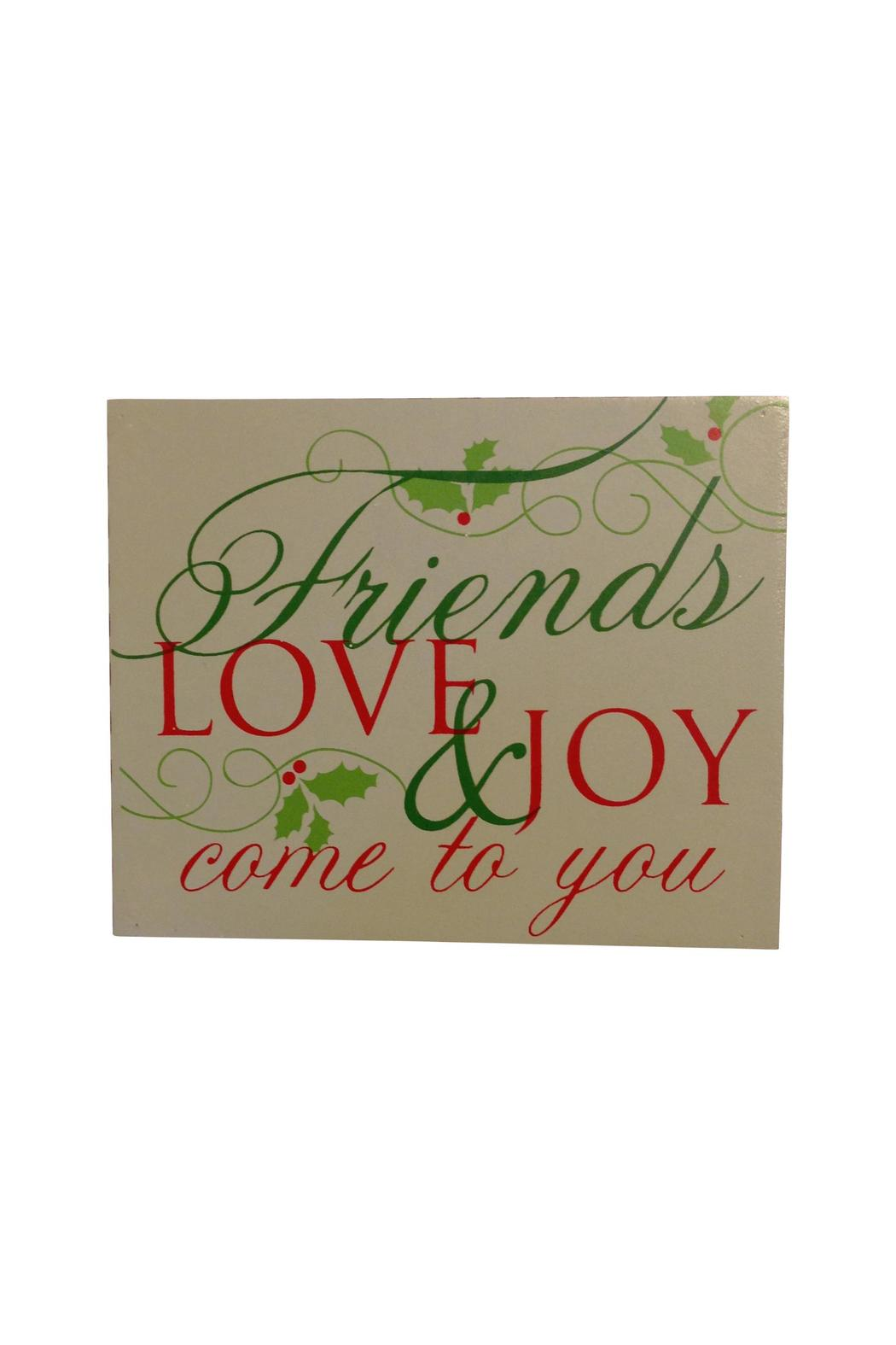 Giftcraft Inc.  Holiday Friends Sign - Main Image