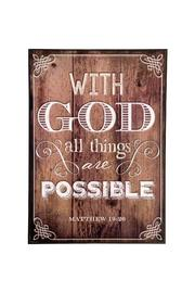 Giftcraft Inc.  Inspirational Plaque - Product Mini Image