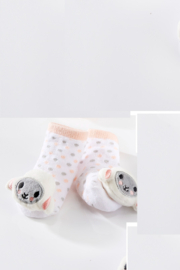 Giftcraft Inc.  Giftcraft Lil LLama Rattle Socks - Front full body