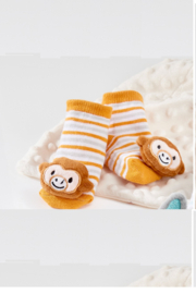 Giftcraft Inc.  Giftcraft Lil LLama Rattle Socks - Front cropped