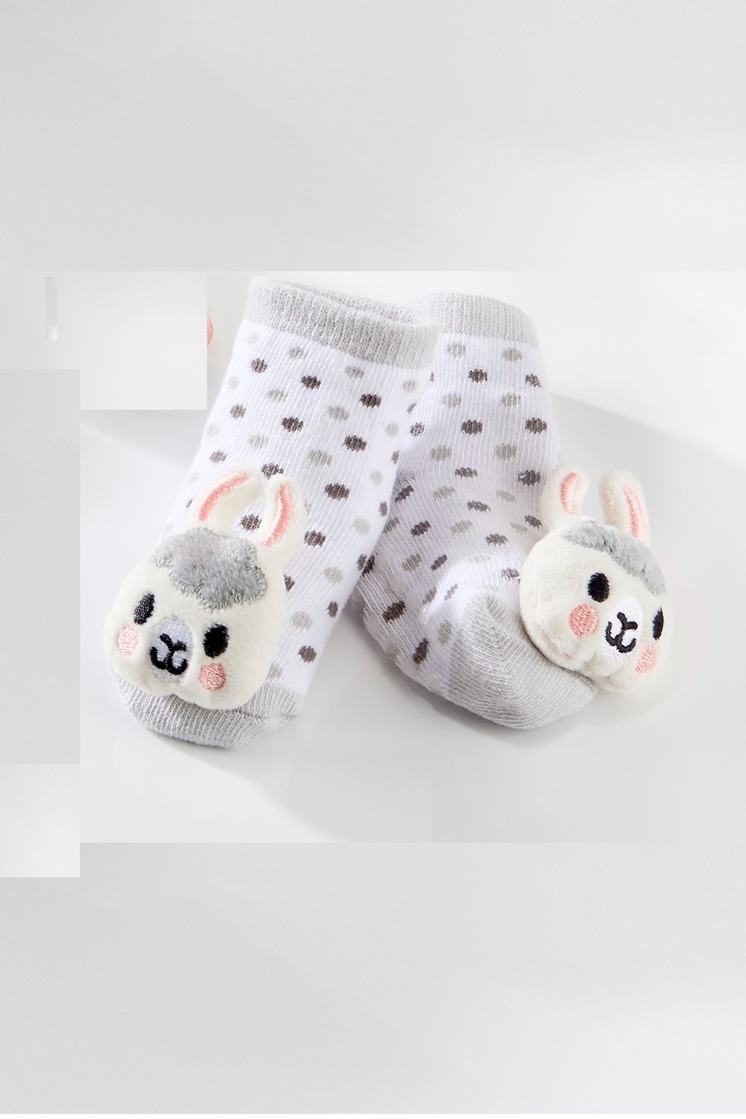 Giftcraft Inc.  Giftcraft Lil LLama Rattle Socks - Main Image