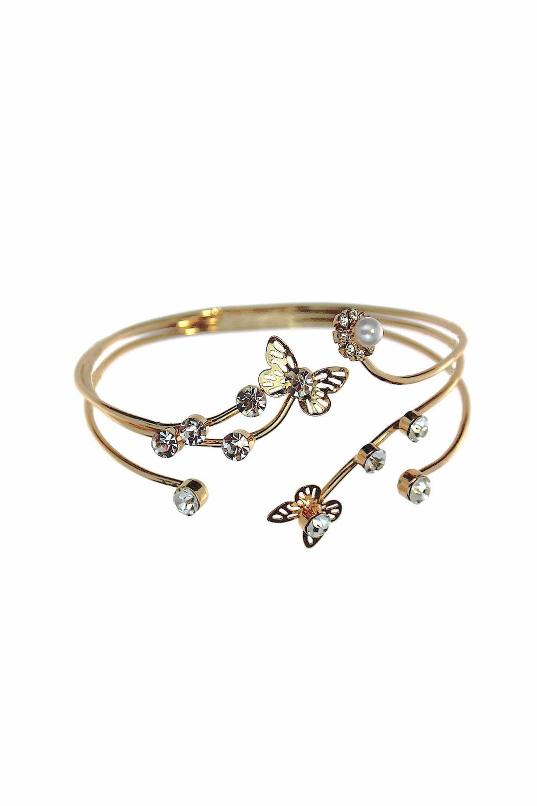 Giftcraft Inc.  Butterfly Flower Bangle - Main Image